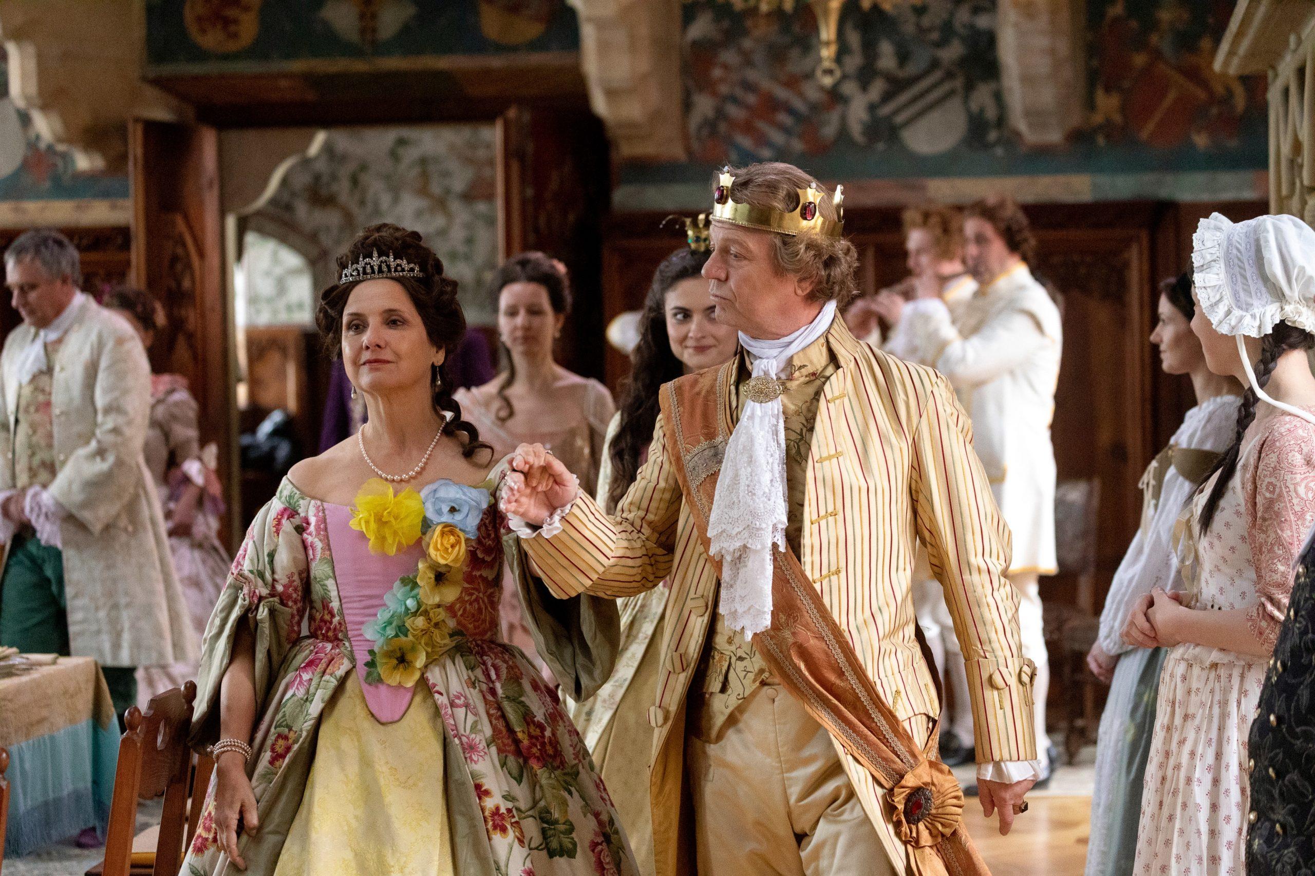 Natáčení pohádky s názvem Princezna půl království na hradě Bouzov 5. května 2019.